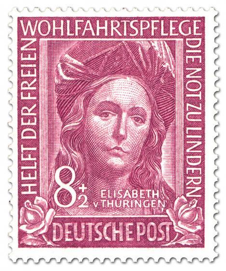 Stamp: Elizabeth von Thüringen (Wohlfahrtsmarke)
