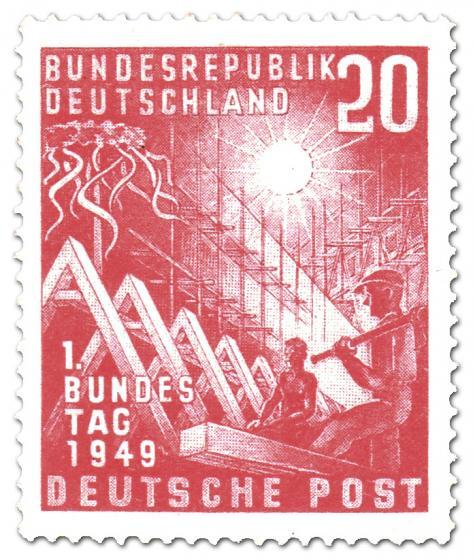 Stamp: Erster Deutscher Bundestag (20)