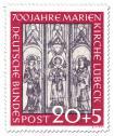 Stamp: 700 Jahre Marienkirche Lübeck  - Wandmalerei (20+5)