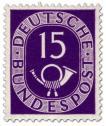 Stamp: Posthorn 15 Pfennige