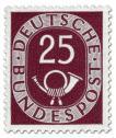 Stamp: Posthorn 25 Pfennige