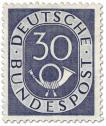 Stamp: Posthorn 30 Pfennige