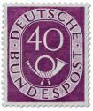 Stamp: Posthorn 40 Pfennige