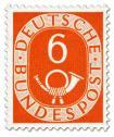 Stamp: Posthorn 6 Pfennige