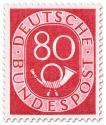 Stamp: Posthorn 80 Pfennige