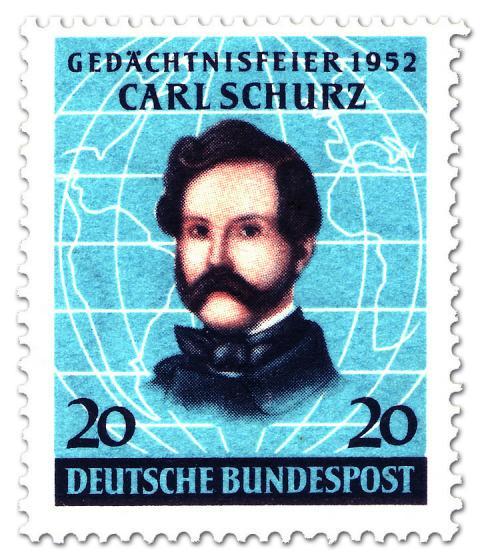 Stamp: General Carl Schurz (amerikanischer Staatsmann)