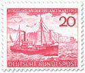 Stamp: Fischdampfer auf See vor Helgoland