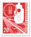 Stamp: Auto, Strasse - Verkehrsausstellung München