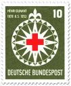 Stamp: Rotes Kreuz auf Windrose (für Henri Dunant)