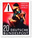 Stamp: Verkehrsunfall - Mutter mit verletztem Jungen und Warndreieck