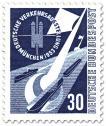 Stamp: Wasserstrasse, Kanal und Schiffe - Verkehrsausstellung München