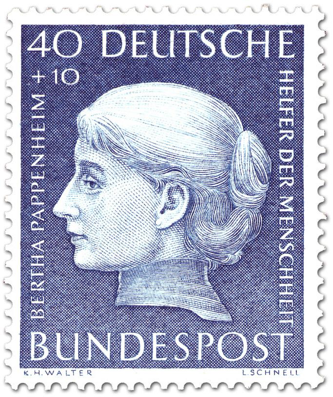 Stamp Bertha Pappenheim Frauenrechtlerin