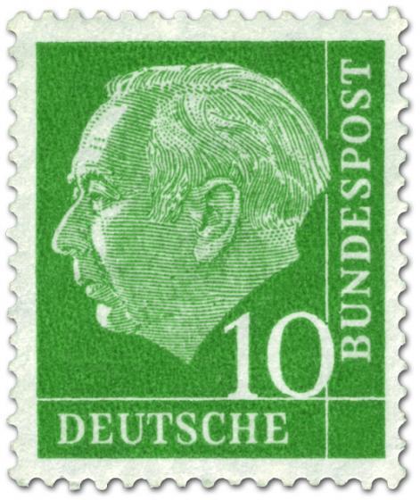 Stamp: Bundespräsident Theodor Heuss 10