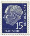 Stamp: Bundespräsident Theodor Heuss 15