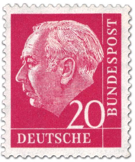 Stamp: Bundespräsident Theodor Heuss 20
