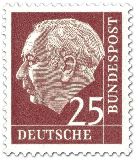 Stamp: Bundespräsident Theodor Heuss 25