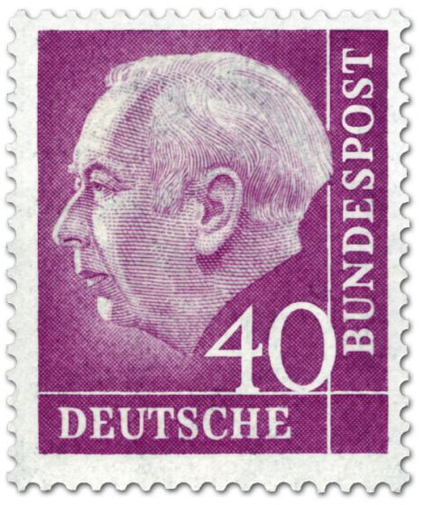 Stamp: Bundespräsident Theodor Heuss 40