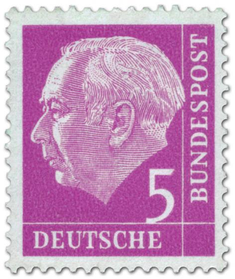 Stamp: Bundespräsident Theodor Heuss 5
