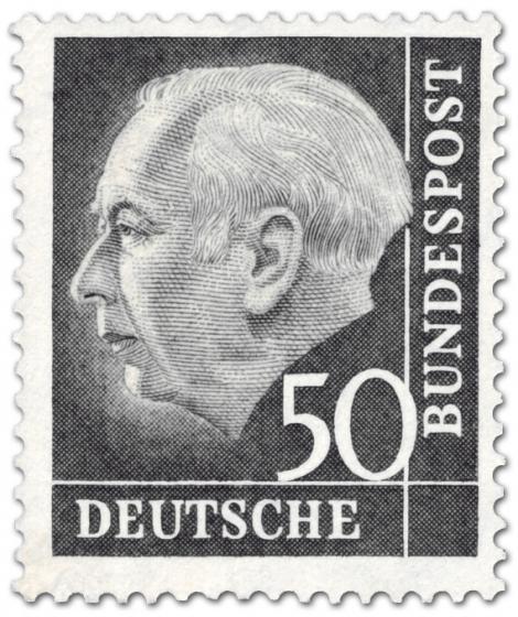 Stamp: Bundespräsident Theodor Heuss 50