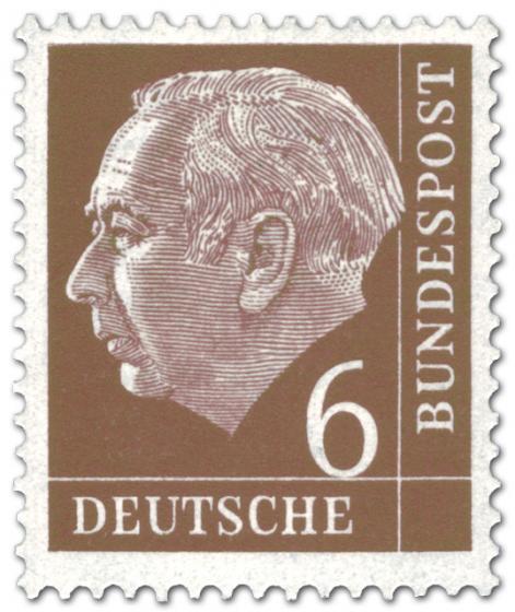 Stamp: Bundespräsident Theodor Heuss 6