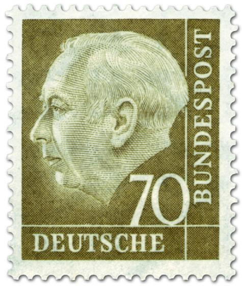 Stamp: Bundespräsident Theodor Heuss 70