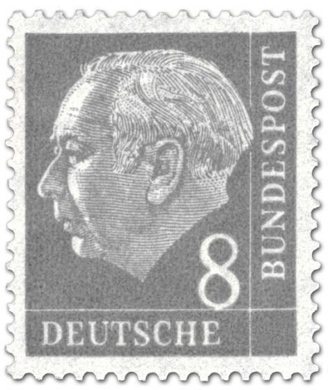 Stamp: Bundespräsident Theodor Heuss 8