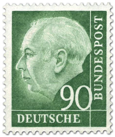 Stamp: Bundespräsident Theodor Heuss 90