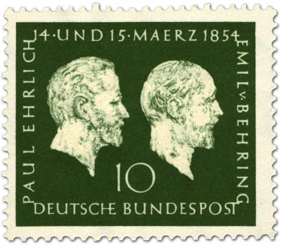Stamp: Paul Ehrlich und Emil von Behring (Nobelpreis Medizin)