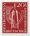 Stamp: Pinzette Posthorn (Briefmarkenausstellung 1955)