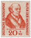 Stamp: Samuel Hahnemann (Arzt, Begründer der Homöopathie)