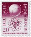 Stamp: Weltall Atommodell (Forschungsförderung)