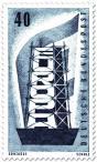 Stamp: Europamarke (Gerüst und Fahne), 20