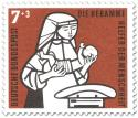 Stamp: Hebamme mit Kind und Waage