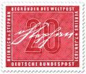 Stamp: Unterschrift von Heinrich von Stephan (Mitbegründer des Weltpostvereins)