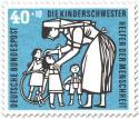 Stamp: Kinderschwester mit Kindern