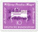 Stamp: Klavier und Noten (Wolfgang Amadeus Mozart 200. Todestag)