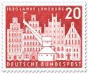 Stamp: Stadt Lüneburg (Baukran und Bürgerhäuser)