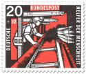 Stamp: Bergmann im Stollen am Kohlenhobel