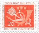 Stamp: Tulpe und Posthorn (Briefmarkenausstellung)