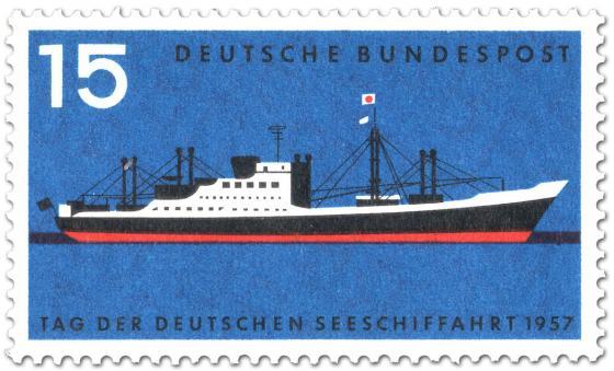 Stamp: Tag der dt. Seeschifffahrt (Frachtschiff Bayernstein)