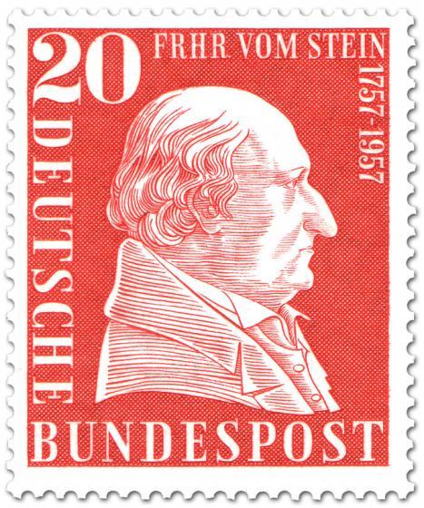 Stamp: Freiherr vom und zum Stein (200. Geburtstag)