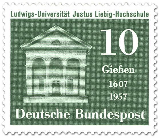 Stamp: 350 Jahre Justus Liebig Universität Giessen