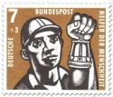 Stamp: Kohlebergbau: Bergmann mit Grubenlampe