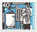 Stamp: Anschläger beim Kohlewagen am Förderschacht