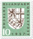Stamp: Wappen des Saarlandes (Eingliederung)
