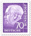 Stamp: Bundespräsident Theodor Heuss 70 (lila)