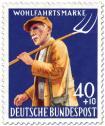 Stamp: Bauer mit Heugabel
