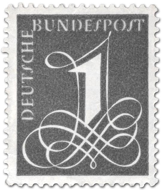 Deutsche Bundespost 1 1958 German Stamp 1958