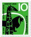 Stamp: Giraffe und Löwe (100 Jahre Zoo Frankfurt)