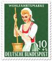 Stamp: Sennerin mit Butterfass